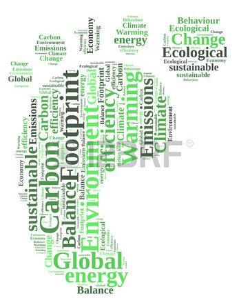 Nuvola di parole riguardanti la sostenibilità e la green economy