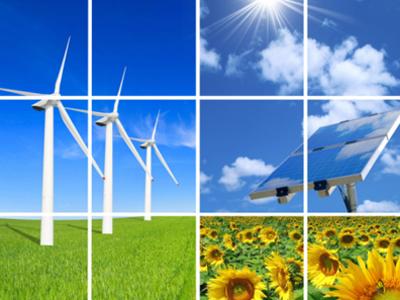 Composizione di energia eolica e campagna