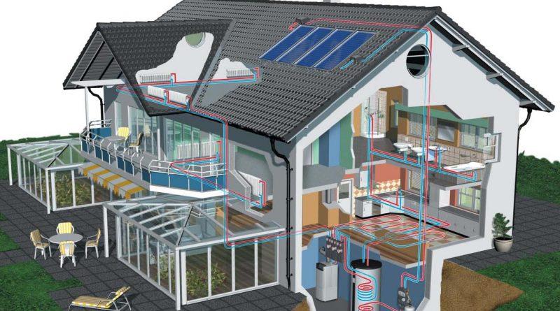 Casa con impianto a bioenergia