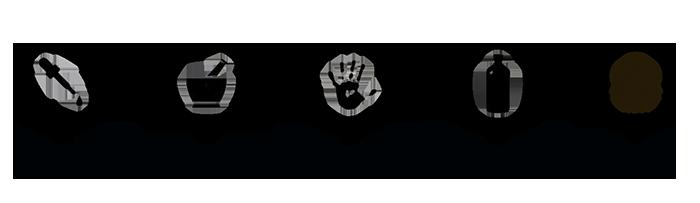 Logo con le quattro qualità che ha organic way