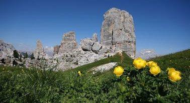 Parco Naturale delle Dolomiti Bellunesi con montagne e foreste