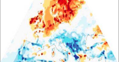 Variazioni di temperatura dovute al cambiamento climatico in Europa