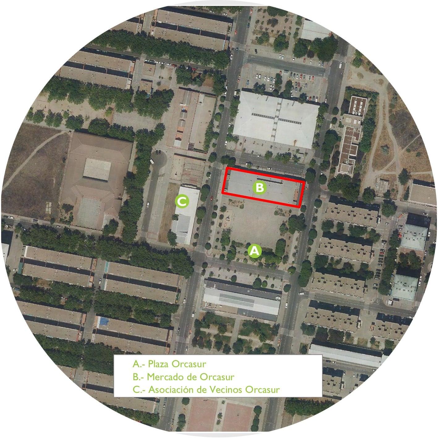 Mercado de orcasur: recupero di edifici pubblici