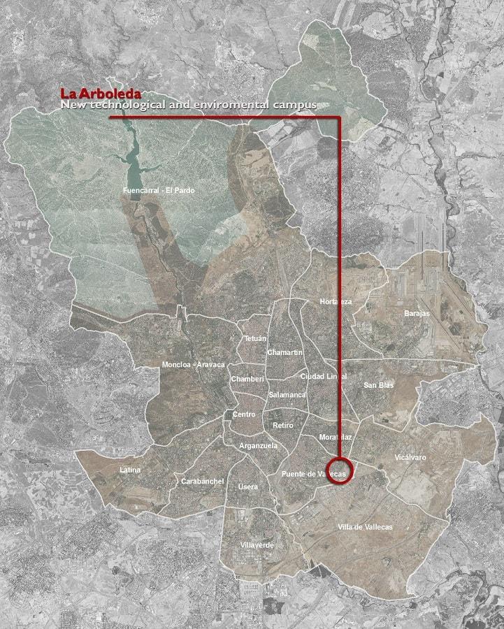 mappa di vallecas, campus universitario green