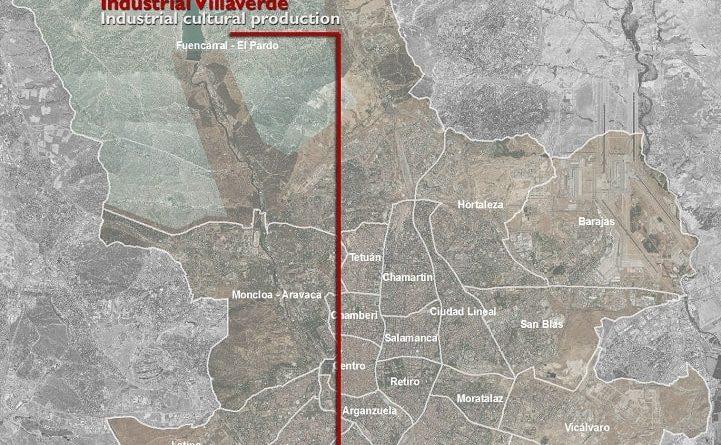 Mappa di Villaverde Madrid