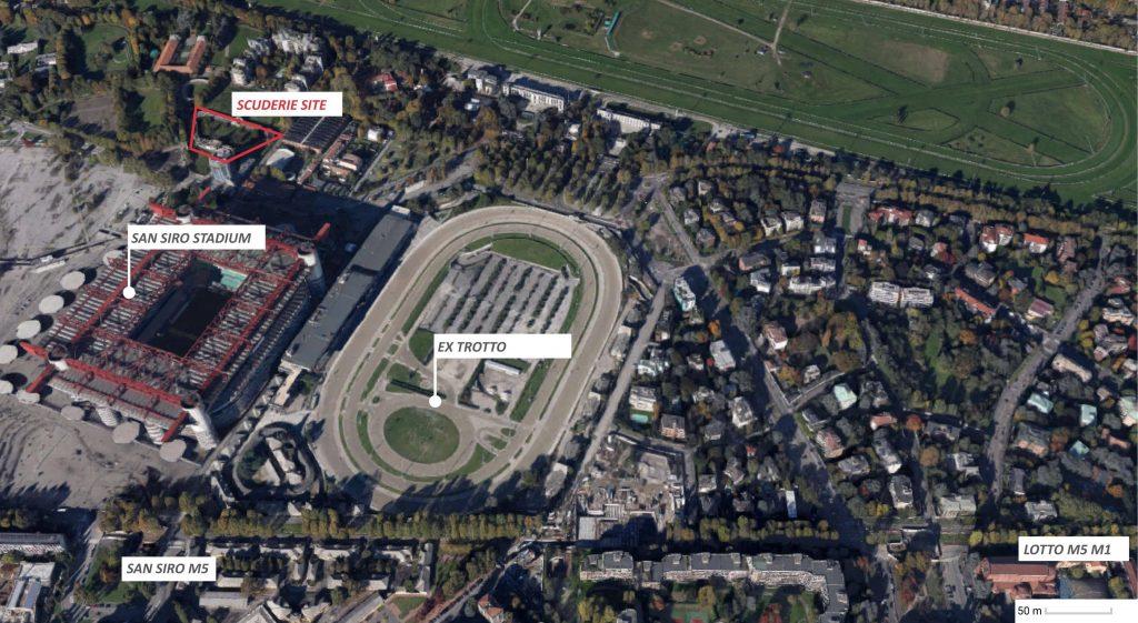 Mappa Scuderie de Montel Milano terme sostenibili