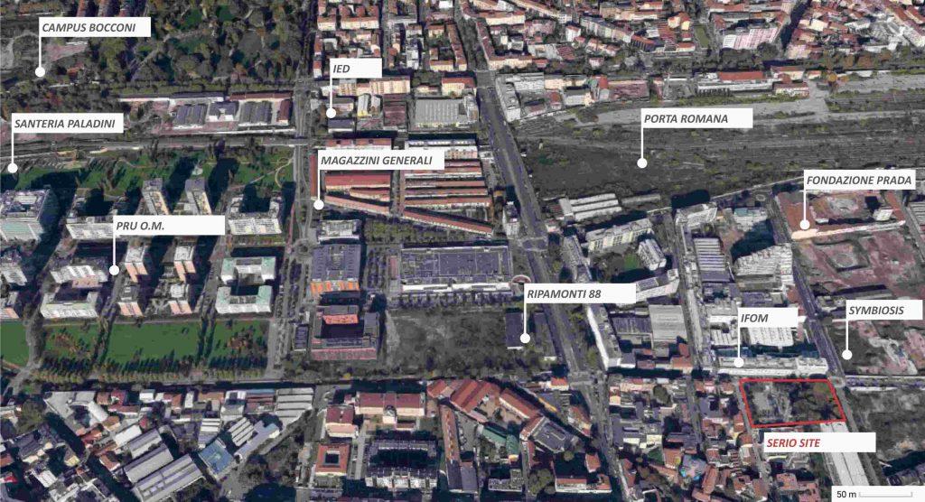 Sito di Vitae nel quartiere di Porta Romana per la rigenerazione dell'area di Serio