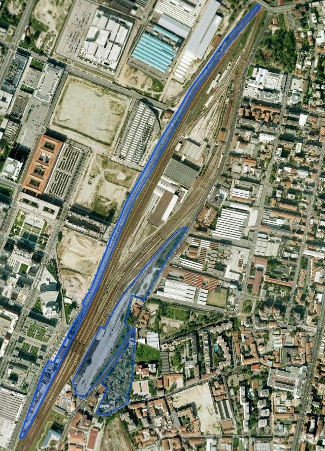 mappa scalo ferroviario abbandonato da ristrutturare e rigenerare a Mialno