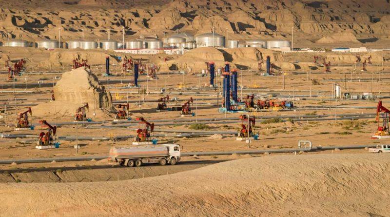 Campo di estrazione in fallimento per il prezzo troppo basso del petrolio negli Stati Uniti d'America