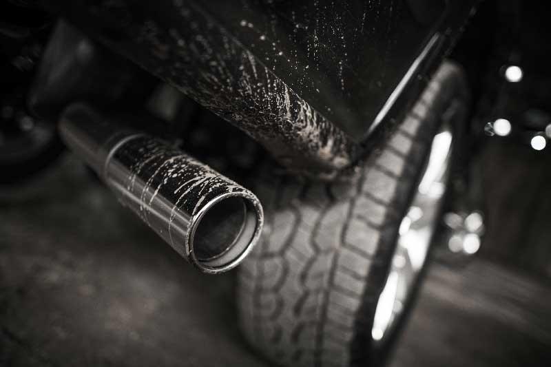 Emissioni di gas dell'auto in aumento