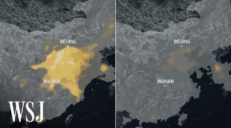 mappa della Cina con inquinamento e possibilità entro il 2060 di essere neutrale al carbonio